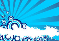 Fundo azul Foto de Stock Royalty Free