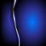 Fundo azul abstrato Imagens de Stock Royalty Free