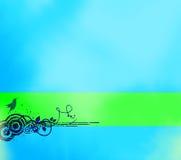 Fundo azul abstrato com bandeira Fotografia de Stock Royalty Free