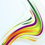 Fundo azul abstrato com linhas curvadas. Imagem de Stock