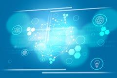 Fundo azul abstrato com números Fotografia de Stock Royalty Free