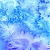 Fundo azul abstrato da aguarela Foto de Stock
