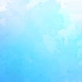 Fundo azul abstrato da aquarela do vetor Fotografia de Stock