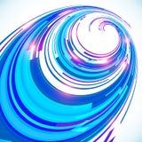 Fundo azul abstrato da espiral da perspectiva do techno Fotos de Stock Royalty Free