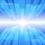 Fundo azul abstrato da tecnologia com estrela do fulgor ilustração royalty free