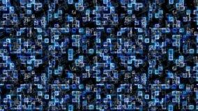 Fundo azul abstrato Fundo da tecnologia, do melhor conceito da série do negócio global ilustração 3D ilustração do vetor