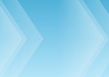 Fundo azul abstrato das setas Fotografia de Stock