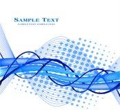 Fundo azul abstrato - decoração conservada em estoque da arte futurista Fotografia de Stock Royalty Free
