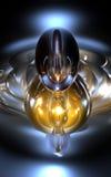 Fundo azul abstrato do amarelo 3D Imagem de Stock Royalty Free