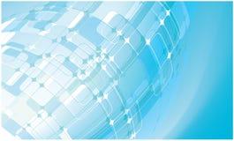 Fundo azul abstrato do foguete Fotografia de Stock Royalty Free