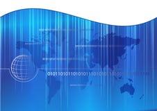 Fundo azul abstrato do negócio Fotografia de Stock