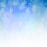 Fundo azul abstrato do pixel Fotografia de Stock Royalty Free