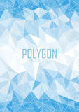 Fundo azul abstrato do polígono ilustração stock