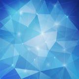 Fundo azul abstrato do triângulo Imagens de Stock Royalty Free