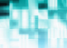 Fundo azul abstrato dos quadrados Imagens de Stock Royalty Free