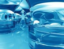 Fundo azul abstrato efeito Textured Fotografia de Stock Royalty Free