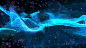 Fundo azul abstrato, onda, imagem gerada por computador Imagem de Stock