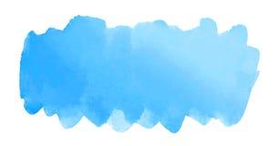 Fundo azul abstrato pintado à mão da aquarela Fotografia de Stock Royalty Free