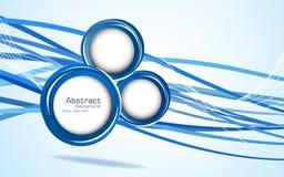 Fundo azul abstrato. Vetor Fotos de Stock Royalty Free
