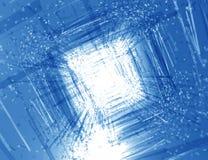 Fundo azul abstrato vidro quebrado Fotos de Stock