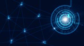 Fundo azul alta-tecnologia imagem de stock royalty free