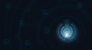 Fundo azul alta-tecnologia ilustração stock