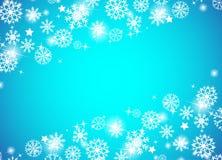 Fundo azul bonito do Natal Fotos de Stock Royalty Free