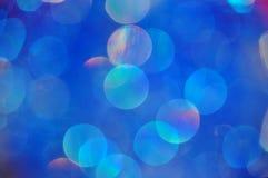 Fundo azul borrado sumário com círculos imagem de stock