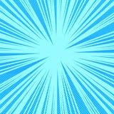 Fundo azul brilhante da página da banda desenhada Fotografia de Stock Royalty Free