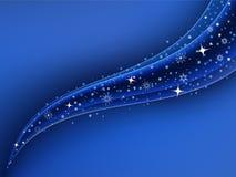 Fundo azul brilhante do Natal ilustração royalty free