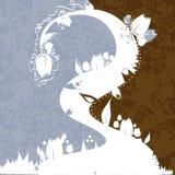 Fundo azul-castanho Ilustração Royalty Free
