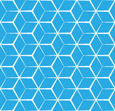 Fundo azul cúbico abstrato, teste padrão sem emenda Imagens de Stock Royalty Free