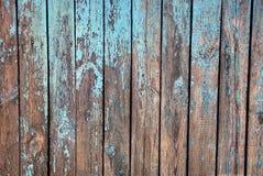 Fundo azul cinzento de placas de madeira velhas de uma cerca rural Fotografia de Stock