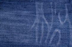 Fundo azul clássico da sarja de Nimes imagens de stock royalty free
