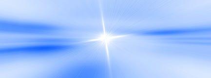 fundo azul com efeitos brilhantes do inclinação e do borrão fotografia de stock