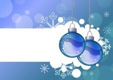 Fundo azul com esferas de suspensão Imagem de Stock