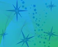 Fundo azul com estrelas Fotos de Stock Royalty Free