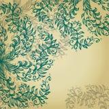 Fundo azul com flores espirais Imagens de Stock
