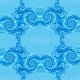 Fundo azul com fractals Fotografia de Stock Royalty Free