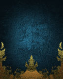 Fundo azul com ornamentação Elemento para o projeto Molde para o projeto copie o espaço para o folheto do anúncio ou o convite do imagem de stock royalty free