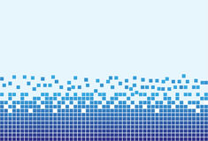 Fundo azul com pixéis Imagens de Stock