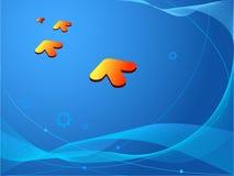 Fundo azul conceptual Ilustração Stock