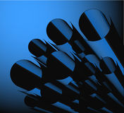 Fundo azul creativo Imagens de Stock