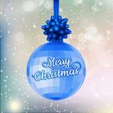 Fundo azul da bola do Natal Eps 10 ilustração do vetor