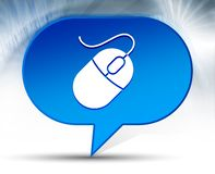 Fundo azul da bolha do ícone do rato ilustração do vetor