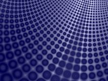 Fundo azul da curva dos círculos Imagens de Stock Royalty Free
