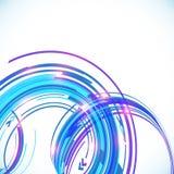 Fundo azul da espiral do techno do vetor abstrato Fotografia de Stock