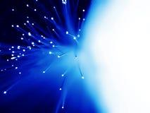 Fundo azul da fibra óptica Imagens de Stock