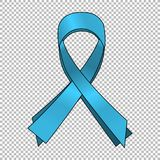 Fundo azul da fita da conscientização do câncer da próstata Próstata do mundo Fotografia de Stock