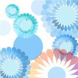 Fundo azul da flor ilustração do vetor